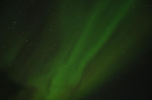 O céu estrelado ainda completa a beleza...